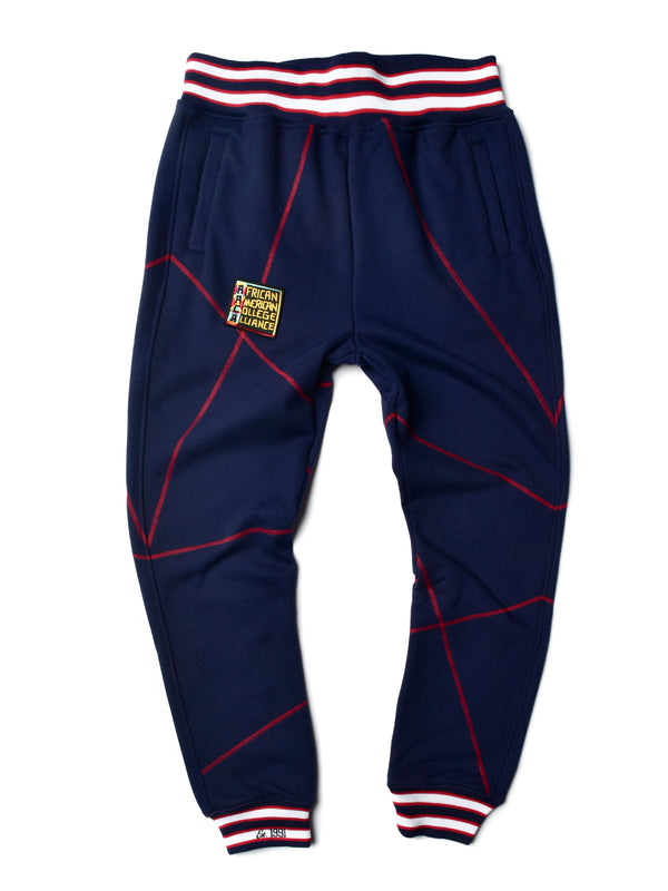 "AACA Original '92 ""Frankenstein"" Stitched Sweatpants Navy/Maroon"