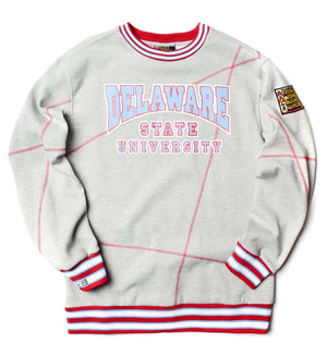 "Delaware State University Original '92 ""Frankenstein"" Crewneck MDH Grey/Red"