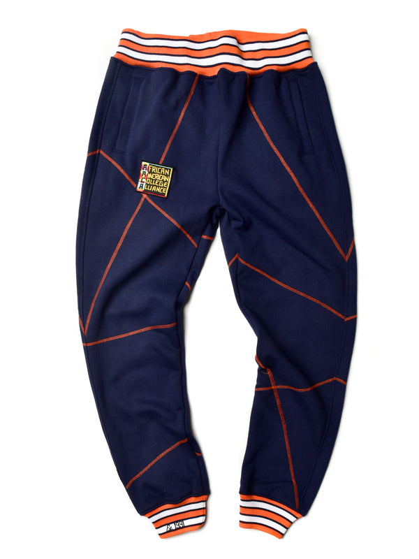 "AACA Original '92 ""Frankenstein"" Stitched Sweatpants Navy/Orange"