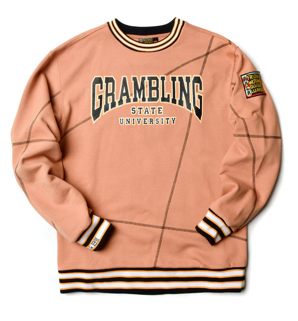 Grambling State University Classic '92 Crewneck Butter Rum/Black