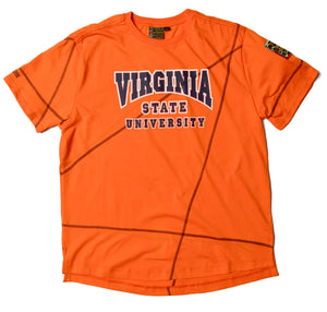 "Virginia State Classic ""Frankenstein"" Crewneck T-Shirt Orange/Navy Blue"