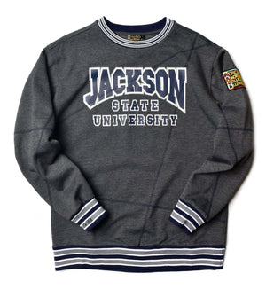 "Jackson State University Original '92 ""Frankenstein"" Crewneck Charcoal Grey/Navy"