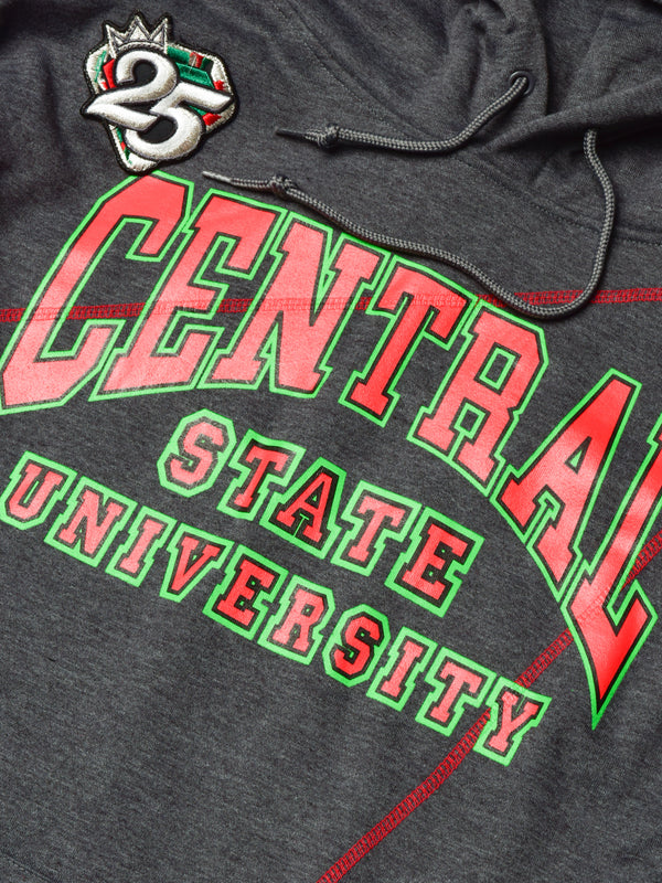 FTP Central State University '92 Frankenstein Stitched Hoodie Charcoal Grey/Red