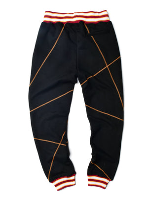 "AACA Original '92 ""Frankenstein"" Stitched Sweatpants Black/Gold"