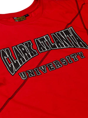 "Clark Atlanta University Classic ""Frankenstein"" Crewneck T-Shirt Red/Black"