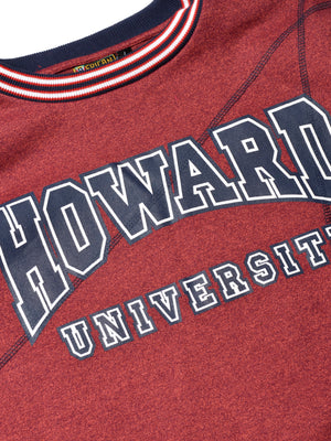 "Howard University Original '92 ""Frankenstein"" Crewneck Sweatsuit Red Heather/Navy"