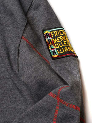 "Clark Atlanta University Original '92 ""Frankenstein"" Crewneck Sweatsuit Charcoal Grey/Red"
