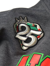 "FTP Florida A&M University Original '92 ""Frankenstein"" Stitched Hoodie Charcoal Grey / Kelly Green"