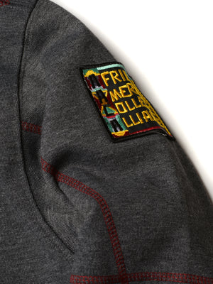 "Morehouse College Original '92 ""Frankenstein"" Crewneck Sweatsuit Charcoal Grey/Maroon"
