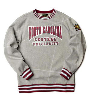 "North Carolina Central University Original '92 ""Frankenstein"" Crewneck MDH Grey/White"