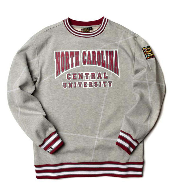 "North Carolina Central University Original '92 ""Frankenstein"" Crewneck Sweatsuit MDH Grey/White"