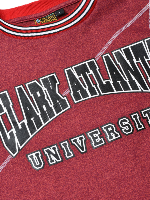"Clark Atlanta University Original '92 ""Frankenstein"" Crewneck Red Heather/White"