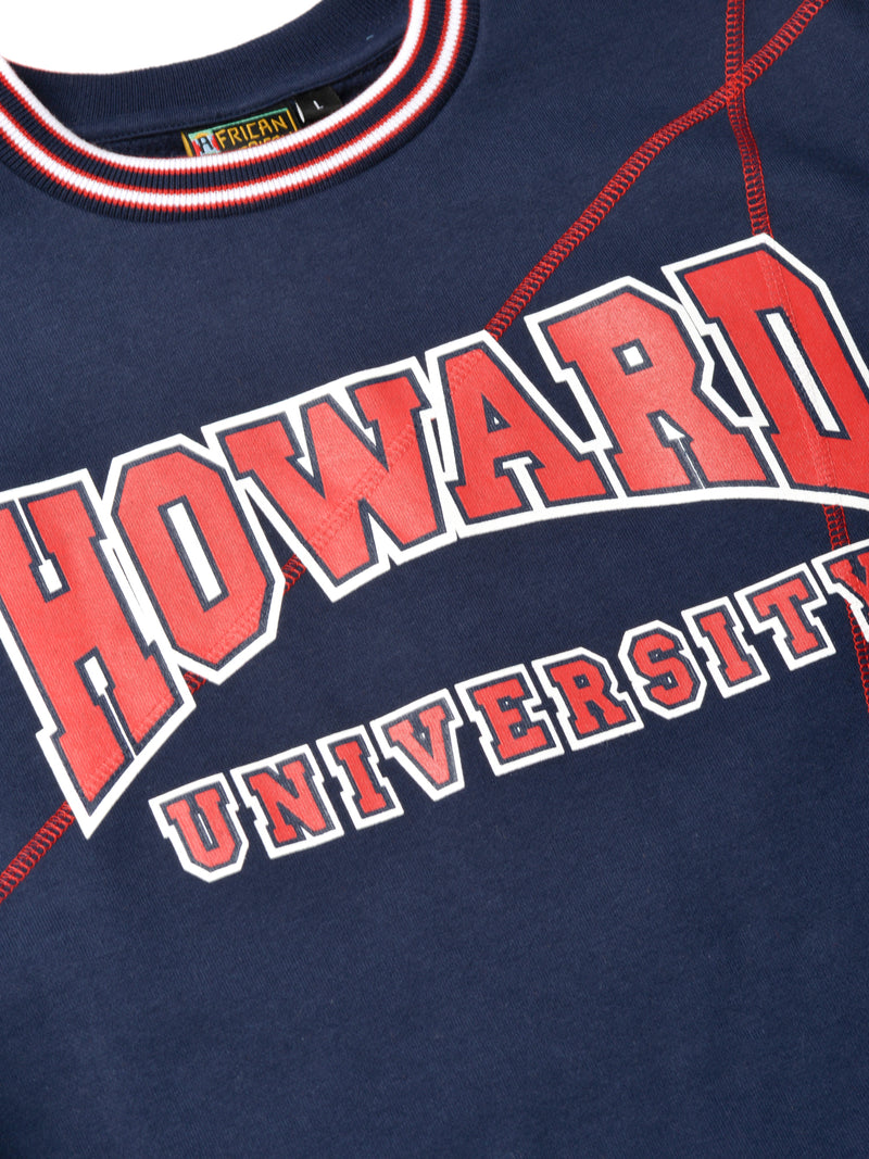 "Howard University Original '92 ""Frankenstein"" Crewneck Sweatsuit Navy/Red"