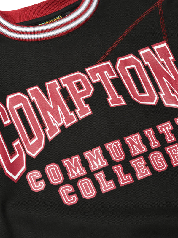 Compton Community College Original '92 Frankenstein Crewneck Black/Maroon