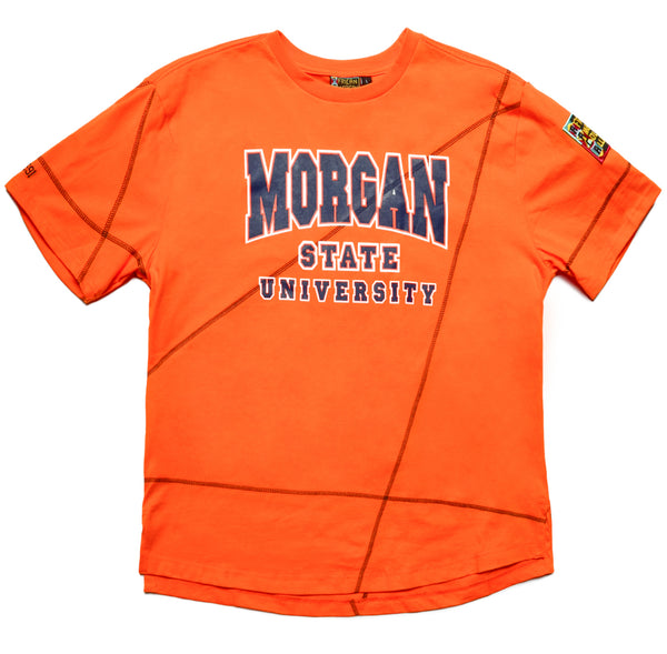 "Morgan State Classic ""Frankenstein"" Crewneck T-Shirt Orange/Navy Blue"