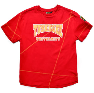 "Tuskegee Classic ""Frankenstein"" Crewneck T-Shirt Red/Gold"