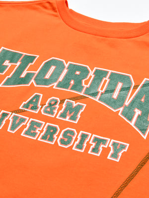 "Florida A & M Classic ""Frankenstein"" Crewneck T-Shirt Orange/Green"