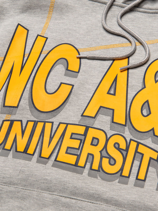 "North Carolina A&T University '93  ""Frankenstein"" Hoodie MDH Grey/Gold"