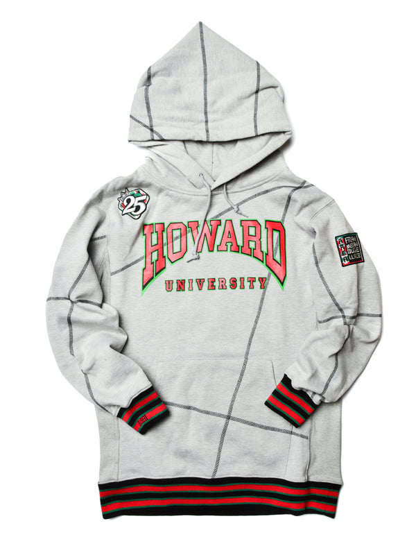 "FTP Howard University Original '92 ""Frankenstein"" Stitched Hoodie MDH. Grey / Black"