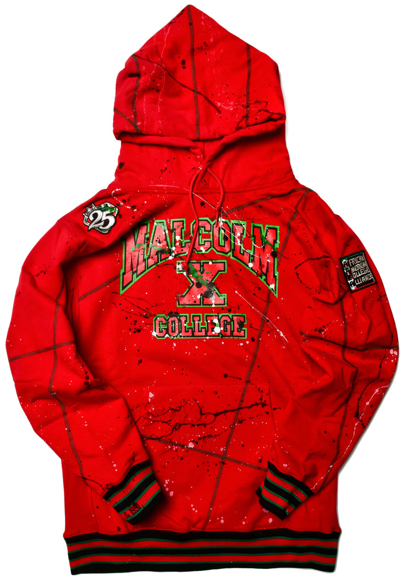 We Are Art Malcolm X College Classic '92 Hoodie Red/Kelly Green (2X ONLY)