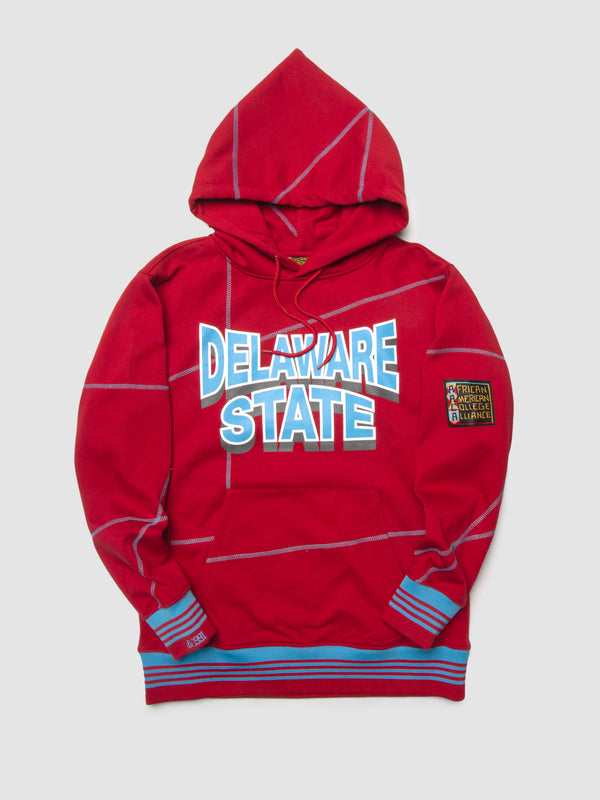 "Delaware State '93 ""Frankenstein"" Hoodie Red/Carolina"