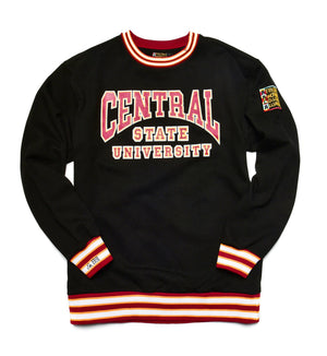 Central State University Classic '91 Crewneck Black/Maroon Sweatsuit