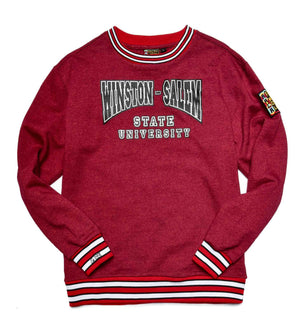 Winston-Salem State University Classic '91 Crewneck Sweatsuit Red Heather