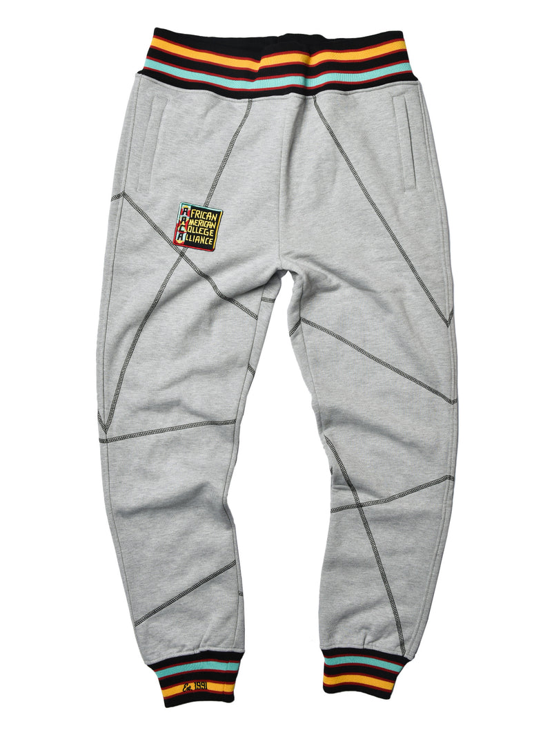 "AACA Original '92 ""Frankenstein"" Stitched Sweatpants Grey/Black"
