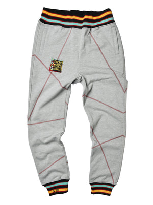 "AACA Original '92 ""Frankenstein"" Stitched Sweatpants Grey/Red"