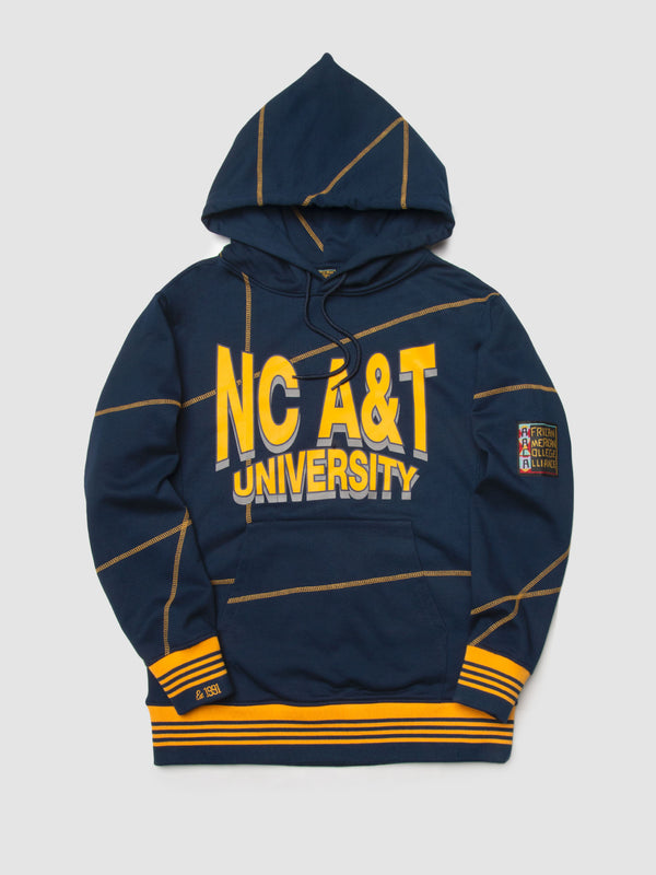 "North Carolina A&T University '93 ""Frankenstein"" Sweatsuit - Navy/Gold"