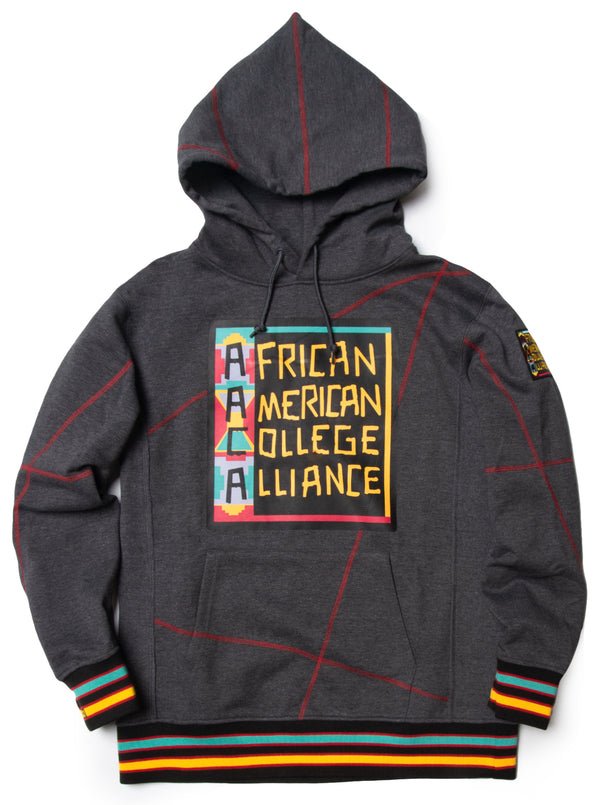 "AACA Original '92 ""Frankenstein"" Stitched Hoodie Charcoal Grey / Red"
