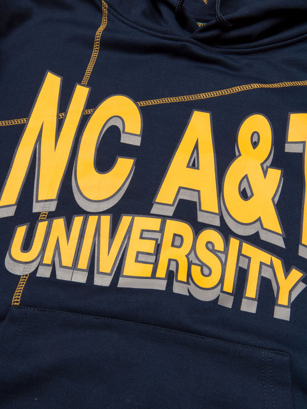 "North Carolina A&T University '93 ""Frankenstein"" Hoodie Navy/Gold"