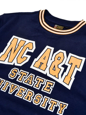 North Carolina A&T University Classic '91 Crewneck Navy