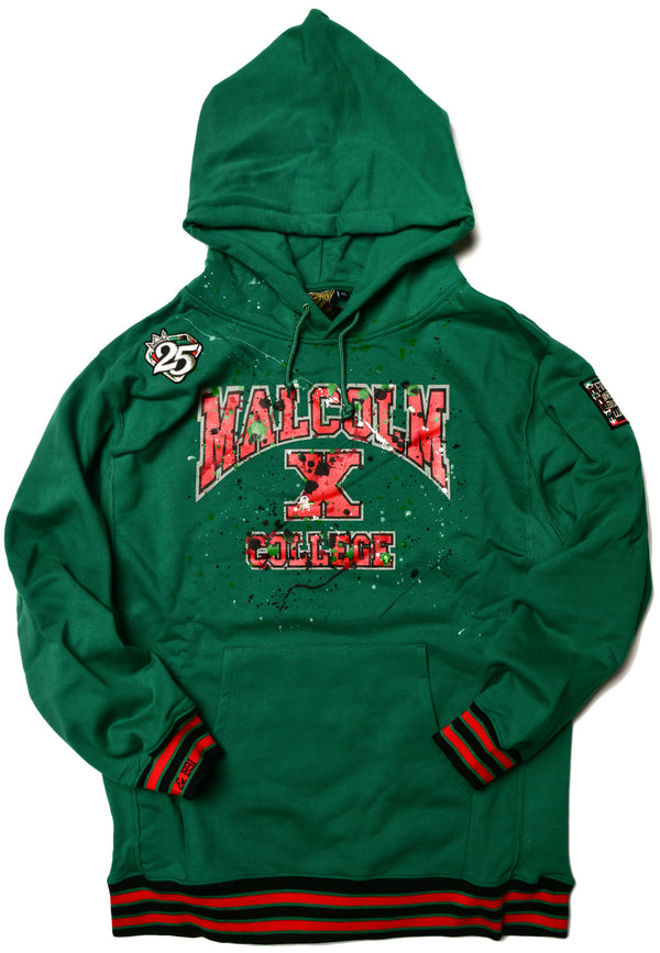 We Are Art Malcolm X College Classic '92 Hoodie Kelly Green (2X ONLY)