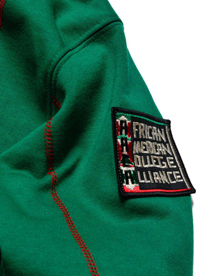 "FTP Malcolm X College AACA Original '92 ""Frankenstein"" Stitched Hoodie Kelly Green/Red"