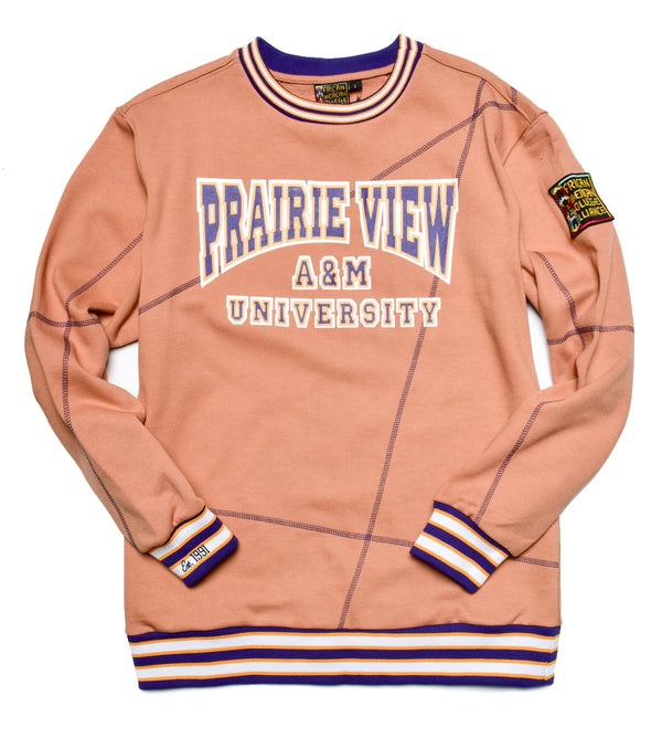 "Prairie View A&M University Original '92 ""Frankenstein"" Crewneck Butter Rum/ Purple"