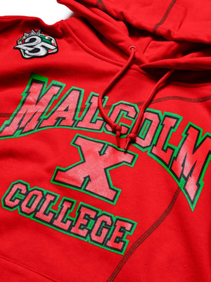 "Malcolm X College AACA Original '92 ""Frankenstein"" Stitched Hoodie Red/Black"