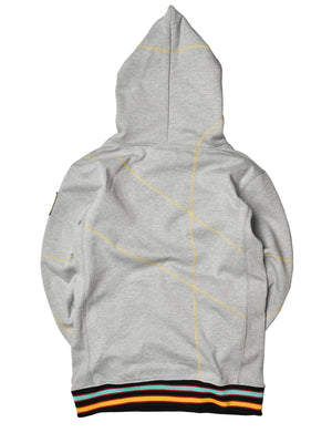 "AACA Original '92 ""Frankenstein"" Stitched Hoodie Grey/Gold"