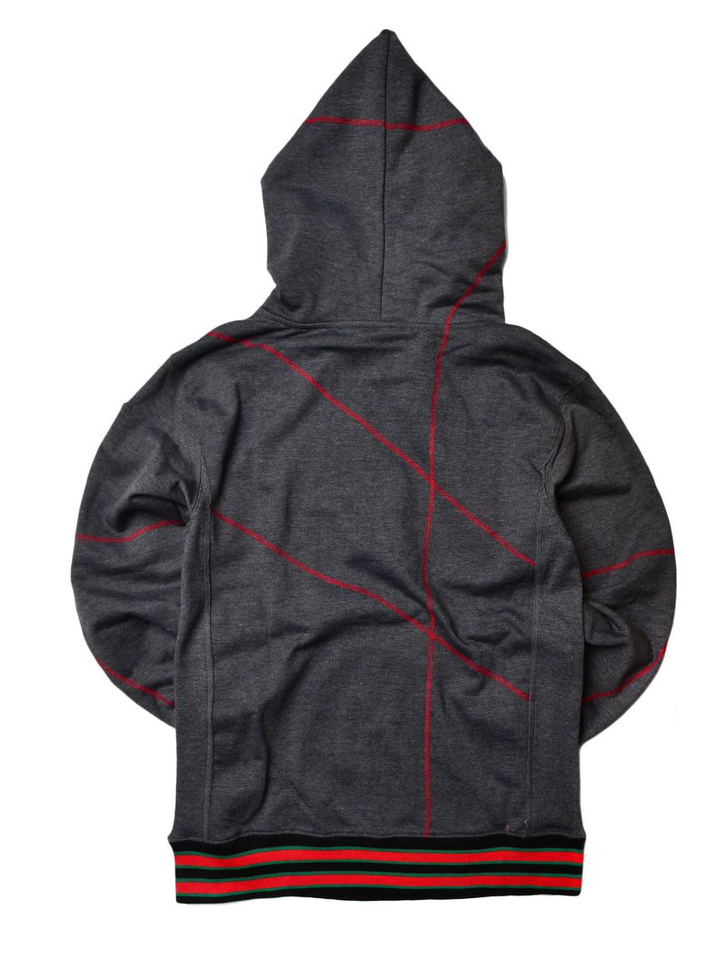 "FTP Grambling State University '92 ""Frankenstein"" Stitched Hoodie Charcoal Grey/Red"