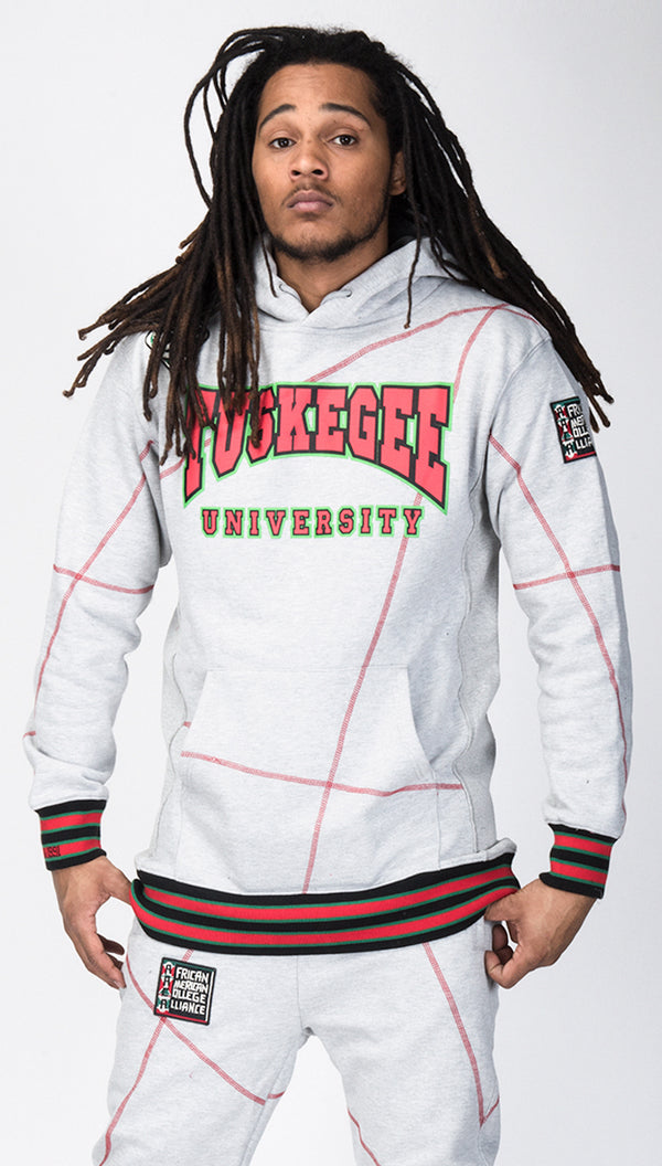 "FTP Tuskegee University '92 ""Frankenstein"" Stitched Hoodie MDH Grey/Red"