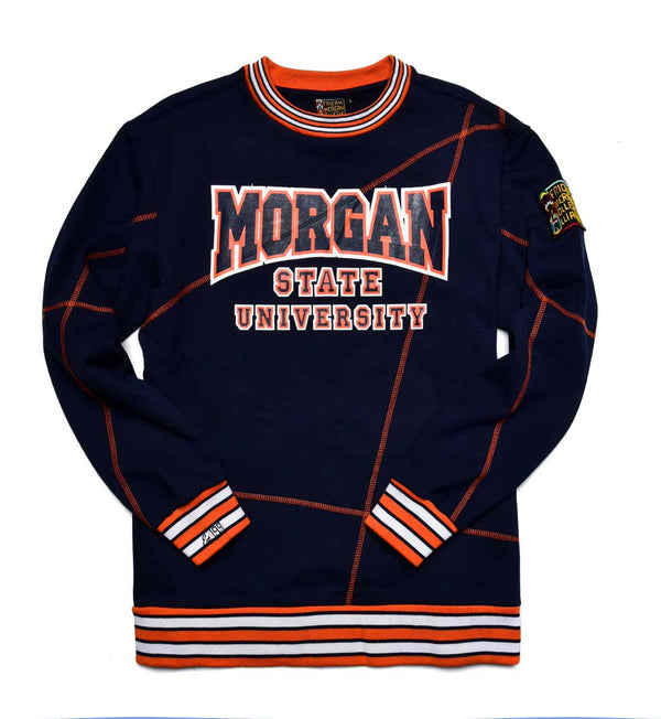 "Morgan State University Original '92 ""Frankenstein"" Crewneck Sweatsuit Navy/Orange"