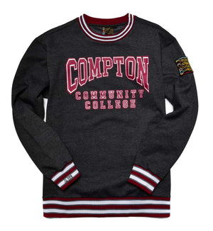 Compton Community College Classic '91  Crewneck Sweatsuit Charcoal Grey