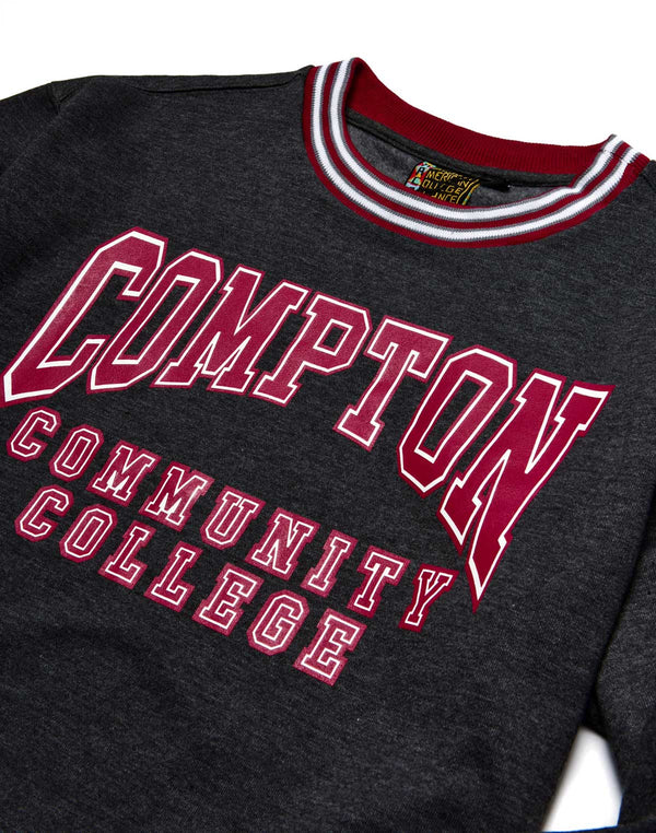 Compton Community College Classic '91  Crewneck Charcoal Grey