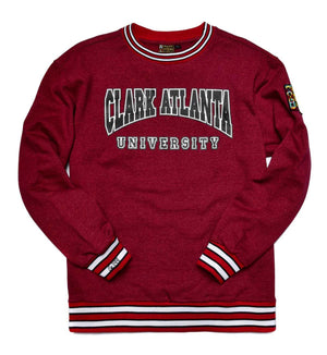 Clark Atlanta University Classic '91  Crewneck Sweatsuit Red Heather