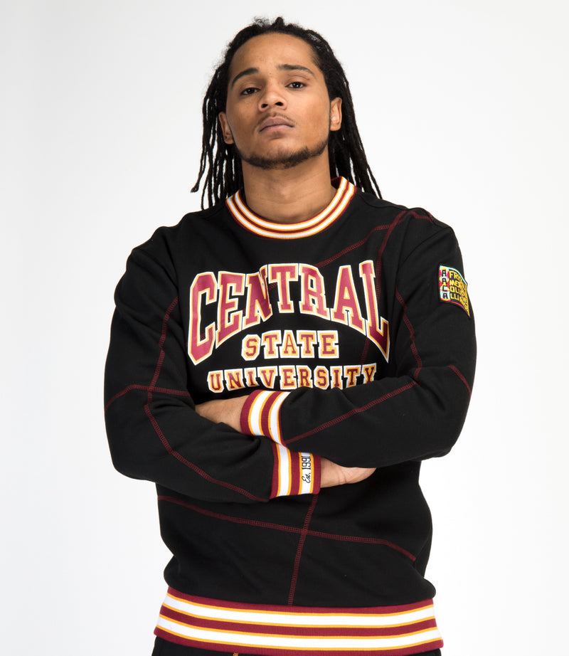 "Central State University Original '92 ""Frankenstein"" Crewneck Black/Maroon"