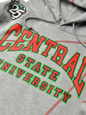 FTP Central State University Classic '91 Hoodie Sweatsuit MDH. Grey/Red