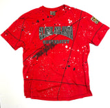 Miskeen Originals' Clark Atlanta All-Over Collabo T-Shirt Red/Black