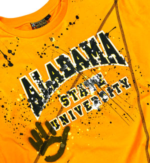 Miskeen Originals' Alabama State Collabo T-Shirt Old Gold/Black
