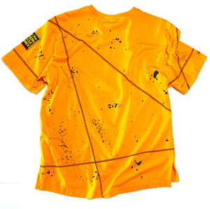 Miskeen Originals' Alabama State All-Over Collabo T-Shirt Old Gold/Black