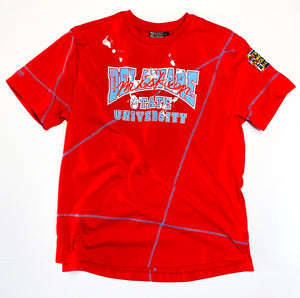 Miskeen Originals' Delaware State Classic Collabo T-Shirt Red/Carolina Blue
